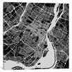 Mercury Row Montreal Urban Roadway Map Graphic Art on Wrapped Canvas