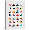 Mercury Row Triangle Variation Graphic Art on Wrapped Canvas