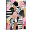 Mercury Row Pink Pebbles Graphic Art on Wrapped Canvas