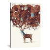 Mercury Row Deer Graphic Art on Wrapped Canvas