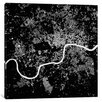 Mercury Row London Urban Map Graphic Art on Wrapped Canvas