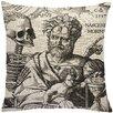 Mercury Row Biscoe Skeleton Linen Throw Pillow