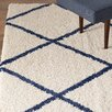 Mercury Row Neptune Ivory / Blue Area Rug