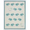 ChappyWrap Counting Sheep Mini Reversible Cotton Throw Blanket