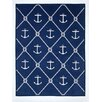 ChappyWrap Anchors and Knots Cotton Throw Blanket