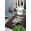 Chelsea Lifestyle Glitz Chocolate Brown Area Rug