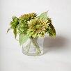 "TC Floral Company Italian Sunflowers in 5"" Clear Glass Jar"