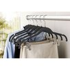 Simplify Velvet Suit Coat Non-Slip Hanger with Clip (Set of 6)