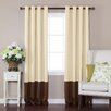 Best Home Fashion, Inc. ColorblockThermalInsulated Grommet TopBlackoutCurtain Panels (Set of 2)