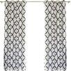 Best Home Fashion, Inc. Moroccan Tile Faux Silk Blackout Single Curtain Panel