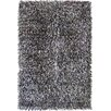 Foreign Accents Fettuccine Black Area Rug