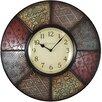 "FirsTime 20.5"" Patchwork Wall Clock"