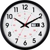"""FirsTime 14"""" Day Date Wall Clock"""