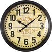 "FirsTime 20"" Whisper Cabin Wall Clock"