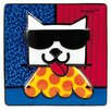 Goebel Wandbild LA Cat von Romero Britto - 15 x 15 cm