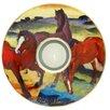 Goebel Künstlerteelicht Die roten Pferde Art Lights