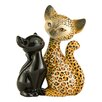 Goebel Leopard Kitty in Love Animal Kitties Figure