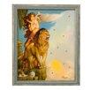 Goebel Gerahmtes Wandbild Lions Return von Michael Parkes - 42,5 x 35,5 cm