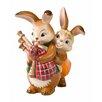 Goebel Figur Hasenpaar mit Dudelsack Ostern