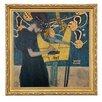 """Goebel Gerahmtes Wandbild """"Die Musik in Bunt"""" von Gustav Klimt, Kunstdruck"""