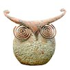 Adobe Wise Owl Statue