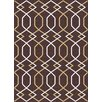 Mayberry Rug Urban Contemporary Lines Brown Area Rug