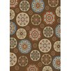 Mayberry Rug Timeless Deco Pinwheel Chocolate Area Rug