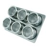 Mastrad 7 Piece Magnetic Stainless Steel Spice Jar and Rack Set