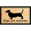 A1 Home Collections LLC Dogs Are Welcome Doormat