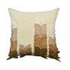 A1 Home Collections LLC Potpourri Felt Leaves Applique Cotton Throw Pillow