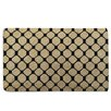 A1 Home Collections LLC Black Check Geometric Doormat