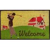 A1 Home Collections LLC Golf Welcome Doormat