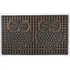 A1 Home Collections LLC Pin Twin Owls Doormat