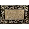A1 Home Collections LLC Filigree Border Decorative Doormat