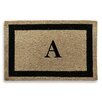 A1 Home Collections LLC Classic Border Monogrammed Doormat