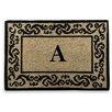 A1 Home Collections LLC Filigree Decorative Border Monogrammed Doormat
