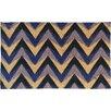 A1 Home Collections LLC Chevron Coir Doormat