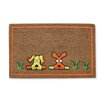 A1 Home Collections LLC Flocked Dogs Doormat
