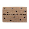 A1 Home Collections LLC Home Sweet Home Flocked Coir Doormat