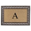 A1 Home Collections LLC Classic Monogrammed Paisley Border Double Doormat