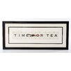 Vintage Playing Cards Time For Tea Frame Typography