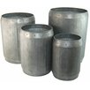 Ascalon Dolly 4 Piece round Pot Planter Set
