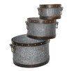 Ascalon 3 Piece Round Pot Planter Set