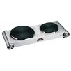 MBR Industries Stainless Steel Electric Double Burner
