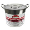 MBR Industries 8-qt Stainless Steel Stock Pot with Lid