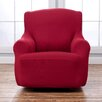 Sure Fit Scroll Classic Wing Chair T Cushion Skirted