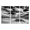 Ready2hangart 'Deserted Beach BlW' by Bruce Bain 3 Piece Photographic Print on Wrapped Canvas Set