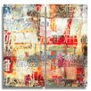 Ready2hangart 'Bueno Exchange XXI' by Alexis Bueno 2 Piece Graphic Art on Wrapped Canvas Set
