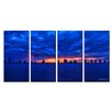 Ready2hangart 'Singer Skyline' by Christopher Doherty 4 Piece Photographic Print on Wrapped Canvas Set
