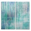 Ready2hangart 'Bueno Exchange LXXVI-b' by Alexis Bueno 2 Piece Graphic Art on Wrapped Canvas Set in Blue